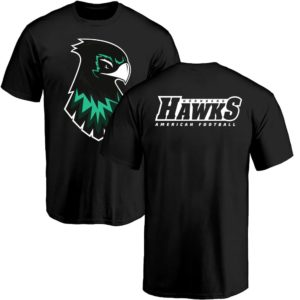Basic Hawks Fan T-Shirt schwarz