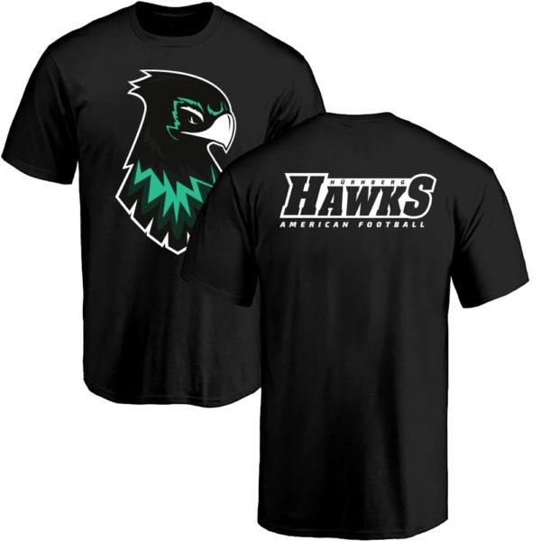 Basic Hawks Fan T-Shirt schwarz
