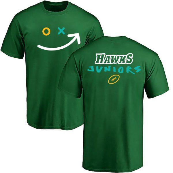 hawks juniors smiley grün