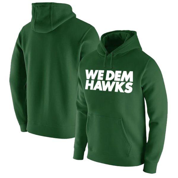 "Classic Hawks Hoodie: ""We dem Hawks"" grün"