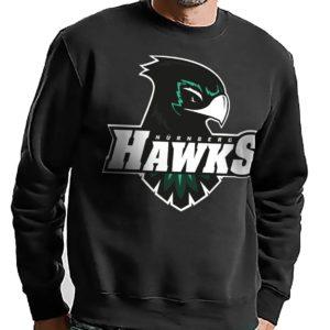 Basic Sweatshirt mit großem Hawks Logo schwarz