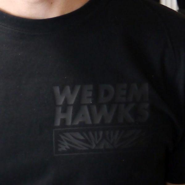 Black on Black front: we dem Hawks